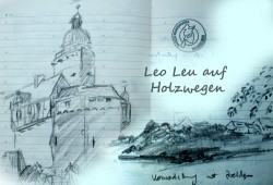 Leo Leu auf Holzwegen. Grafik: Leo Leu