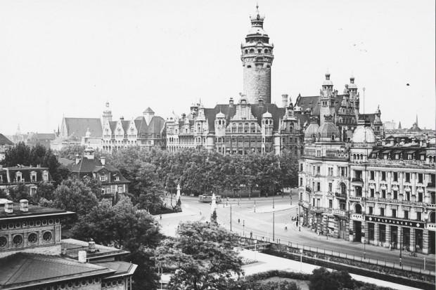 Blick aufs Rathaus. Foto: Stadtarchiv