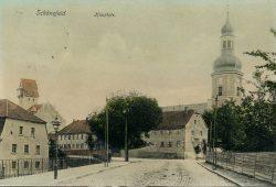 Die Hauptstraße Schönefeld anno 1914. Foto: Stadtarchiv