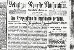 Am 1. August 1914 ist es soweit - Der Kriegszustand wird verhängt. Foto: Stadtarchiv