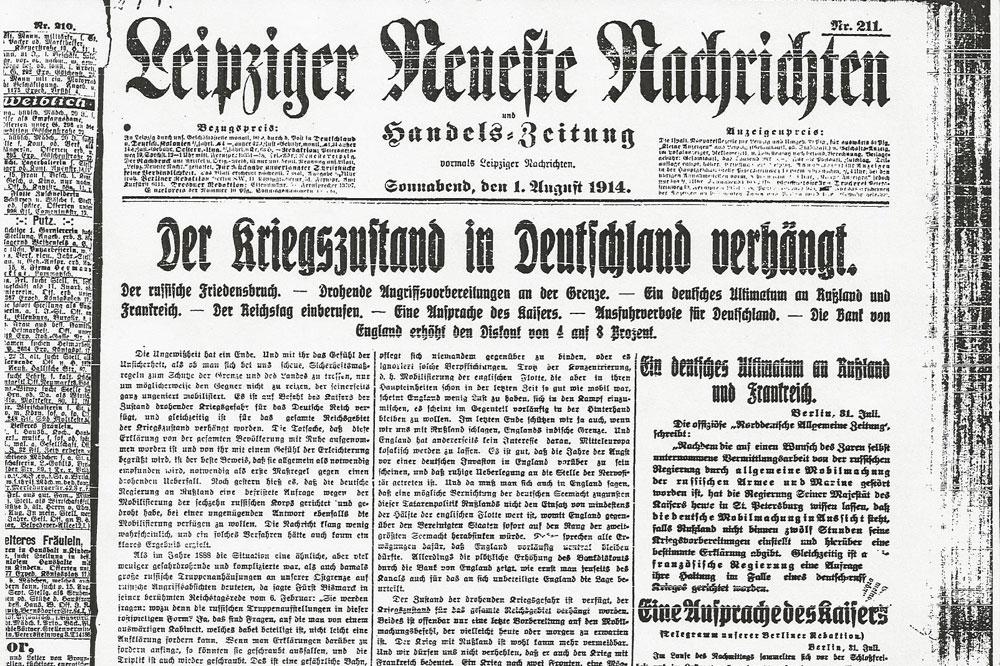 Leipzig im Jahr 1914: Eine Stadt stellt sich auf Krieg ein