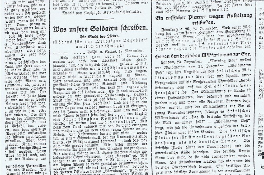 Leipzig, Weihnachten 1914: Wie viel ist hier noch in Butter?