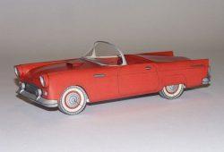 Originalgetreues Kartonmodell eines Ford Thunderbird aus dem Jahre 1954. Foto: Inspirata