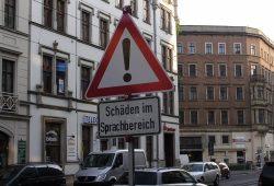 """""""Beruhige dich!"""", sagte der Odnungsamtmitarbeitende. Foto: L-IZ.de"""