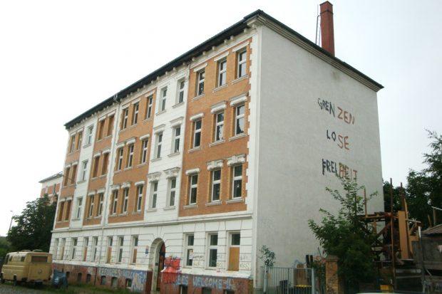Asylunterkunft Markranstädter Straße. Foto: Gernot Borriss