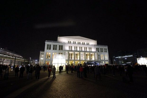 Augustusplatz Leipzig um 18:50 Uhr. Foto: L-IZ.de
