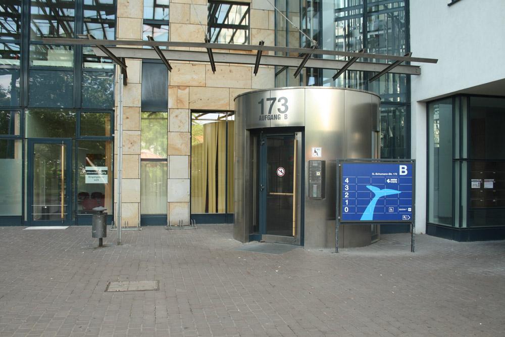 Die Jugendberufsagentur ist in der Axis-Passage untergebracht. Foto: Ralf Julke