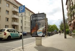 Die Bernhard-Göring-Straße am Haus der Demokratie. Foto: Ralf Julke