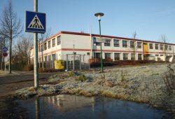 Die 31. Schule als Containerbau in der Franzosenallee in Probstheida. Foto: Ralf Julke