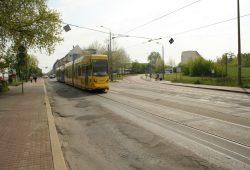 Die Dieskaustraße ist in einem katastrophalen Zustand. Foto: Ralf Julke