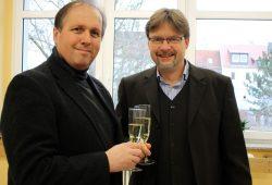 Seniorenrats-Vorsitzende Manfred Wotschke (links) und Bürgermeister Jens Spiske. Foto: Stadt Markranstädt
