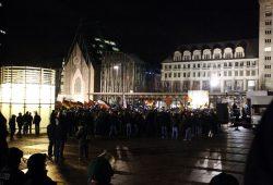 Im Vorfeld der Legida-Demo am 30. Januar 2015 kam es zum Böllerwurf auf Gegendemonstranten. Foto: L-IZ.de