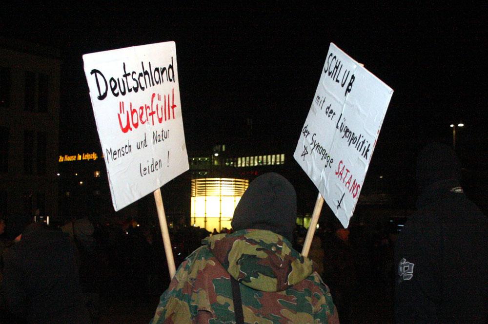Legida-Demonstrant am 21. Januar. Foto: L-IZ.de