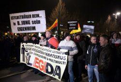 Legida-Demo am 21. Januar in Leipzig Foto: Marcus Fischer
