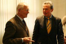 Zwei ruhelose Ruheständler: Hinrich Lehmann-Grube und Dr. Josef Fischer. Foto: Ralf Julke