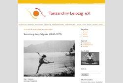 Das Tanzarchiv Leipzig e. V. enthält wichtige historische Dokumente zum Tanzgeschehen. Foto: Foto: Screenshot