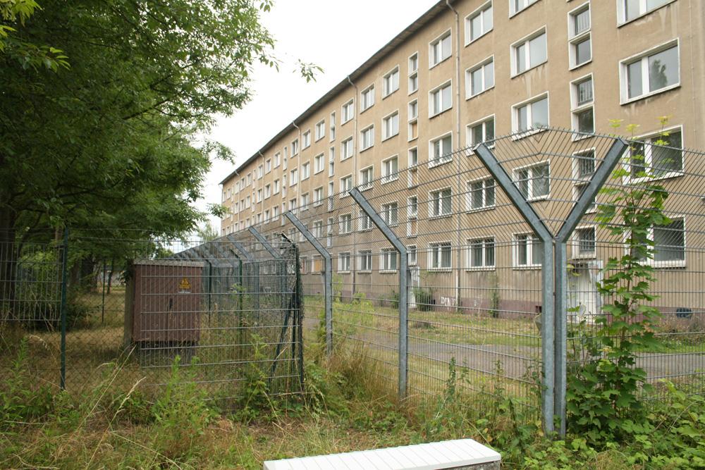 Die zur Sanierung vorgesehene Massenunterkunft Torgauer Straße 290. Foto: Ralf Julke