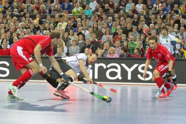 Thilo Stralkowski (#26, D) mit ganzem Einsatz. Foto: Jan Kaefer