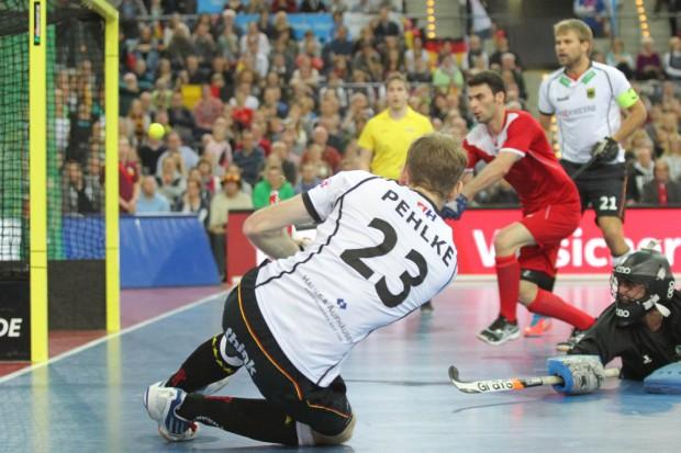 Fabian Pehlke (#23, D) mit seinem Treffer zum 9:2-Zwischenstand. Foto: Jan Kaefer