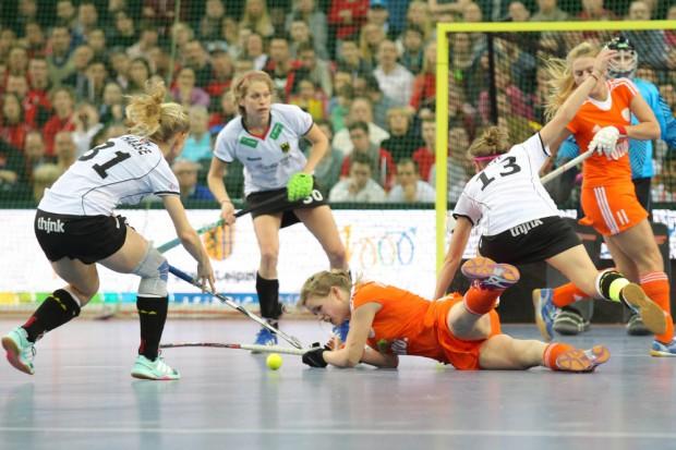 Mit großem Einsatz versuchten die Deutschen, ihre 1:0-Führung zu verteidigen. Foto: Jan Kaefer