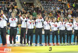 Die deutschen Hockey-Männer mussten nach drei Titeln in Folge diesmal mit dem Bronze-Treppchen Vorlieb nehmen. Foto: Jan Kaefer