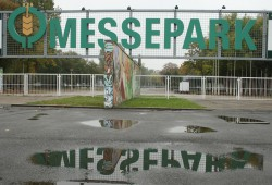 Zugang zum agra-Messepark. Foto: Ralf Julke