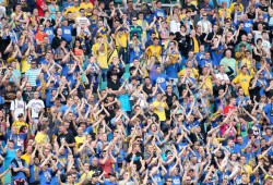 """Ihr seid großartig"", lobte Heiko Spauke die Fans des 1. FC Lok. Foto: Bernd Scharfe"