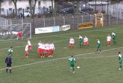 BSG Chemie gegen den FC Grimma: Ein Spitzenspiel mit spielerisch starken Gastgebern ohne Fortune. Screen: Heimspiel TV