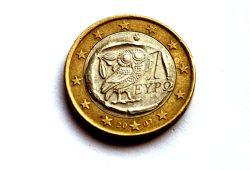 Griechischer Euro mit Eule. Foto: L-IZ.de