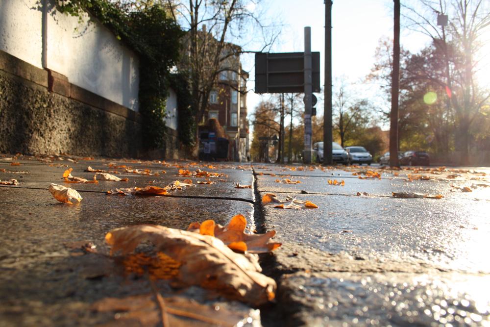 Fußweg in Connewitz - hier mal ohne Stolperfalle. Foto: Ralf Julke