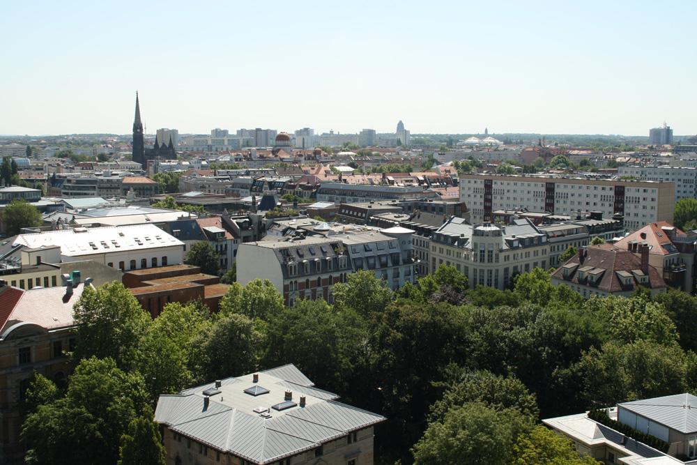 Blick von oben auf das beliebte Musikviertel. Foto: Ralf Julke