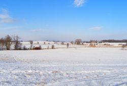 Die Parthenaue bei Plösitz im Winter. Foto: Baumgärtel