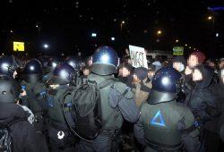 Auch in Leipzig müssen die Polizisten immer wieder für Demonstrationseinsätze anrücken. Foto: L-IZ.de