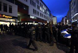 Rund 2.000 Beamte waren am 30. Januar im Einsatz. Unter Anderem hier an der Grimmaische Straße. Foto: Marcus Fischer