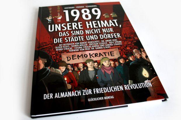 Augsburg, Prüwer, Schwarwel: 1989 - Unsere Heimat, das sind nicht nur die Städte und Dörfer. Foto: Ralf Julke
