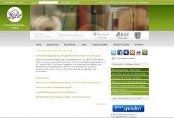 Website der Umweltbibliothek Leipzig. Screenshot: L-IZ