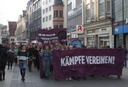 Demonstrationen auf dem Grammaischen Steinweg. Foto: Alexander Böhm