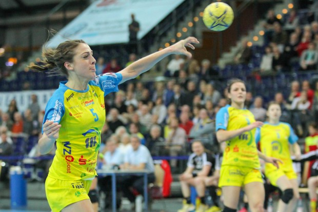 """Alexandra Mazzucco: """"So wie wir heute gespielt haben, hätte es auch gegen einen Gegner, der weiter oben steht, gereicht."""" Foto: Jan Kaefer"""