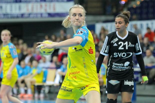Mit fünf erzielten Toren feierte Anna Lena Plate ein erfolgreiches Bundesliga-Debüt. Foto: Jan Kaefer