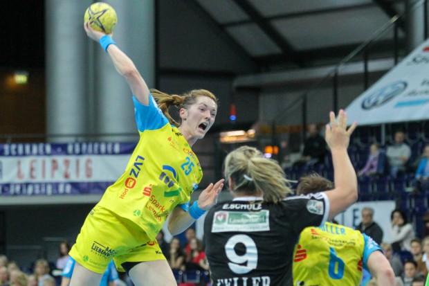 Roxana-Alina Ioneac war mit 9 Treffern für den HCL die erfolgreichste Torschützin der Partie. Foto: Jan Kaefer