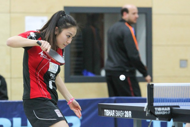 Huong Do Thi ging im Doppel leer aus und konnte im Einzel gegen Christina Feierabend zumindest einen Satz für sich entscheiden. Foto: Jan Kaefer