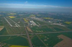 Der Flughafen Leipzig / Halle aus der Vogelperspektive. Foto: Flughafen Leipzig / Halle, Uwe Schoßig