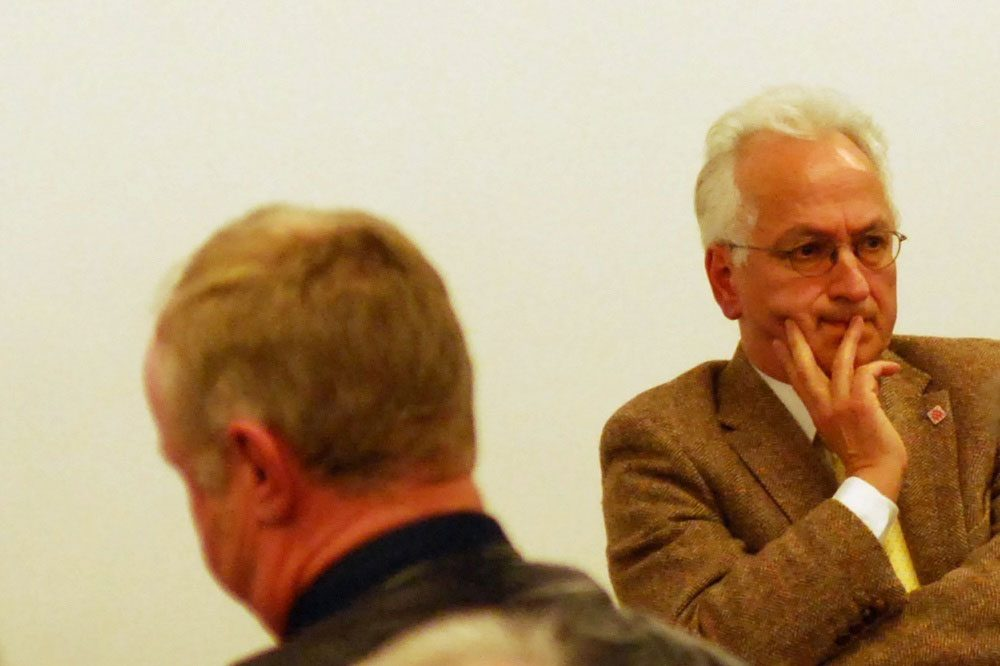 Christian Wolff bei der Diskussion über die Lügenpresse der Friedrich Ebert Stiftung. Foto: L-IZ.de