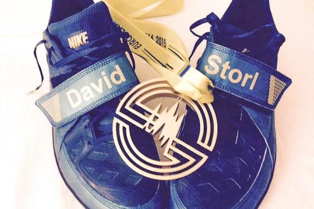 Hallen-Europameister im Kugelstoßen! David Storl teilte seine Freude über Gold mit der ganzen Welt. Foto: David Storl/ SC DHfK