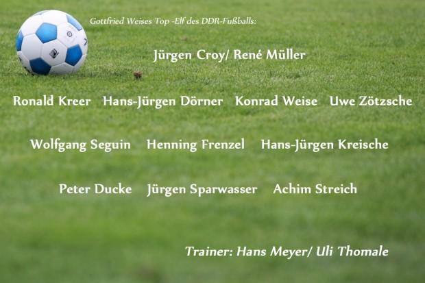Gottfried Weises Top-Elf des DDR-Fußballs. Foto/ Grafik: L-IZ.de