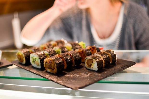 Veganes Sushi für den Green Walk. Foto: Maike Klose