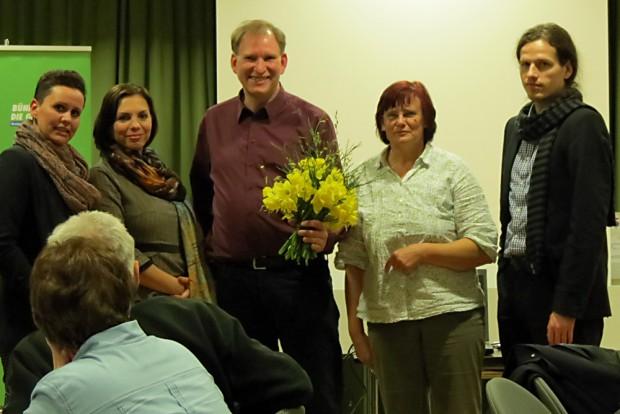 Susanna Karawanskij, Luise Neuhaus-Wartenberg (beide Linke), Peter Hettlich, Barbara Scheller und Jürgen Kasek (Landessprecher Grüne Sachsen). Foto: privat