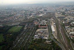 Gleisvorfeld des Hauptbahnhofs Leipzig mit dem Abzweig Richtung Paunsdorf, Engelsdorf, Chemnitz (links). Foto: Matthias Weidemann