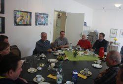 Bischof Heiner Koch zu Gast bei der Initiative Weltoffenes Gohlis Foto: Ernst-Ulrich Kneitschel
