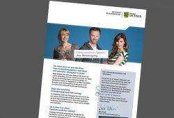 Das Werbeblatt des sächsischen Kultusministeriums für Lehramtsabsolventen aus anderen Bundesländern. Cover: Freistaat Sachsen / SMK